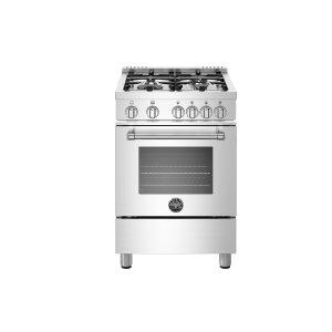 "Bertazzoni24"" Master Series range 4 aluminum MonoBloc burners Stainless Knobs All Gas Stainless Steel LP"