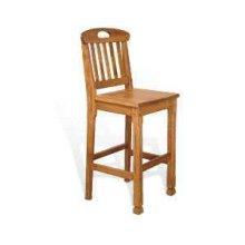 "30""H Sedona Slatback Barstool w/ Wood Seat"