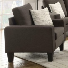 Bachman Transitional Grey Chair