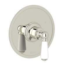 Polished Nickel Perrin & Rowe Edwardian Pressure Balance Trim Without Diverter with Metal Lever