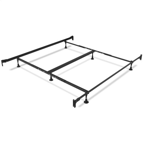 Baxter Complete Metal Bed with Geometric Octagonal Design, Heritage Silver Finish, California King