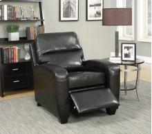 Yukon Black Push-Back Recliner Chair