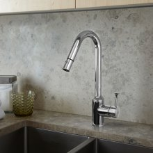 Pekoe 1-Handle Pull Down High-Flow Kitchen Faucet  American Standard - Polished Chrome