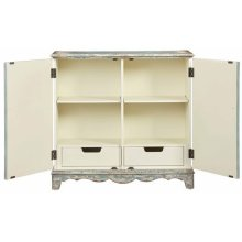 Credenza/Console Cabinet - Antique French Blue Finish