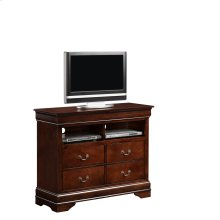 Louis Philippe Cherry Media Chest