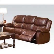 Brown Sofa W/power Motion