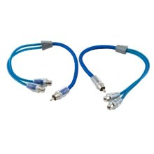 Dual twist Y-Adapter 1 male 2 female