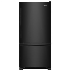 30-inches wide Bottom-Freezer Refrigerator with SpillGuard Glass Shelves - 18.7 cu. ft. - BLACK