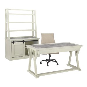 Jonileene - White/Gray 2 Piece Home Office Set -