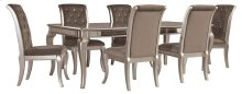 Birlanny - Silver 7 Piece Dining Room Set