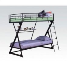 Black T/t Bunkbed W/book Shelf