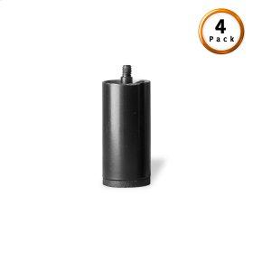 "3"" Black Metric Thread Cylinder Leg for Adjustable Bases, 4-Pack"
