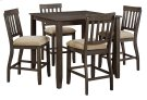 Dresbar - Grayish Brown 5 Piece Dining Room Set Product Image