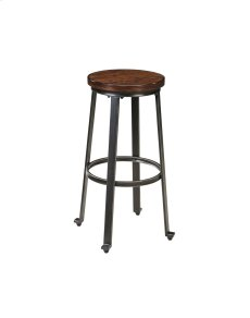 Challiman - Rustic Brown Set Of 2 Dining Room Barstools Product Image
