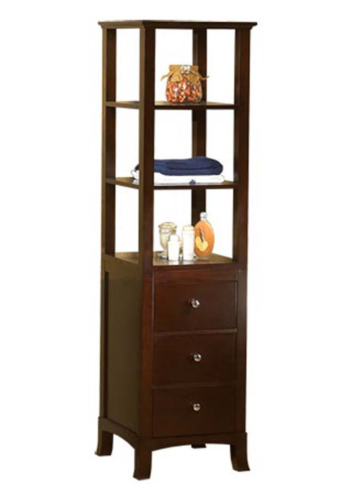 Transitional Linen Cabinet Storage Tower in Vintage Walnut  sc 1 st  Central Plumbing Specialties & 672020F07 in Vintage Walnut by Ronbow in New York City NY ...