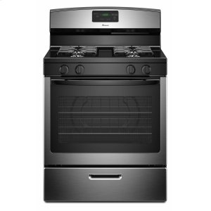 30-inch Gas Range with Easy Touch Electronic Controls - Stainless Steel -