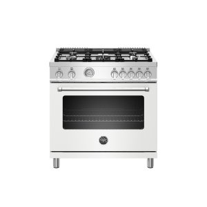 Bertazzoni36 inch All Gas Range, 5 Burners Matt White