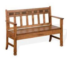 Sedona Bench w/ Storage & Wood Seat