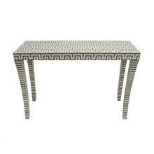 Grey and Off White Resin Console Table