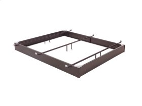 "Pedestal 7560 Bed Base with 7-1/2"" Brown Steel Frame and Center Cross Tube Support, Hotel King"