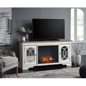 Ashley Furniture Realyn - Chipped White 2 Piece Entertainment Set