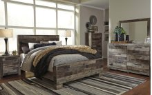 Derekson Queen Bedroom Group: Queen Bed, Nightstand, Dresser & Mirror