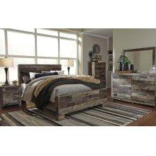 Derekson Queen Bedroom Set: Queen Bed, Nightstand, Dresser & Mirror
