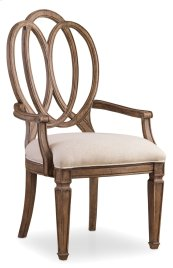 Dining Room Solana Wood Back Arm Chair