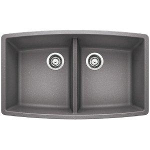 Blanco Performa Equal Double Bowl - Metallic Gray