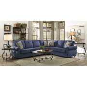 Kendrick Transitional Blue Sectional Product Image