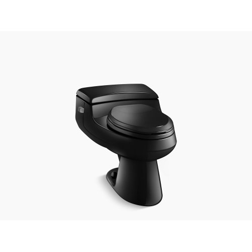 Black Black Comfort Height One-piece Elongated 1.0 Gpf Toilet With Pressure Lite Flushing Technology and Left-hand Trip Lever