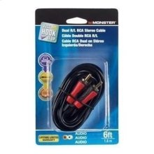 Just Hook It Up Dual RCA Audio Cable - 12 feet / RCA Cable