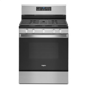 5.0 cu. ft. Whirlpool® gas range with center oval burner - STAINLESS STEEL