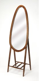 Round out your space in modern flair with this clean-lined standing mirror, showcasing a tear drop shape; crafted from Mango wood and MDF, its shape adds visual appeal to any space while its solid finish blends effortlessly into both monochromatic and vib Product Image