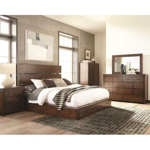 Artesia Industrial Dark Cocoa California King Four-piece Set