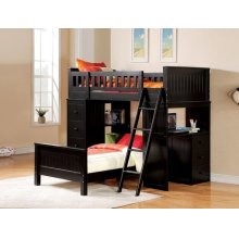 KIT- WILLOUGHBY BLACK LOFT BED