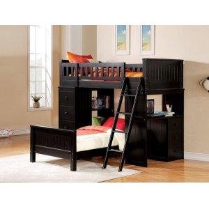 KIT- WILLOUGHBY BLACK LOFT BED