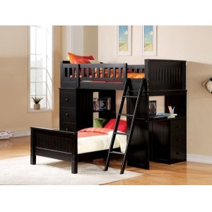 KIT-WILLOUGHBY BLACK TWIN BED
