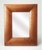 Hammered copper frame brings a touch of shimmering appeal to your ensemble, blending an industrial design with contemporary style, this mirror is perfect to bring dimension to your entry, hall or living area. Product Image