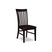 Mission Dining Chairs Set of 2 with Wood Seat in Espresso