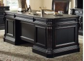 """Home Office Telluride 76"""" Executive Desk w/Wood Panels"""