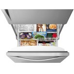 Whirlpool 33-Inches Wide Bottom-Freezer Refrigerator With Spillguard Glass Shelves - 22 Cu. Ft