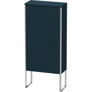 Semi-tall Cabinet Floorstanding, Night Blue Satin Matt Lacquer