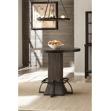 Jennings Round Counter Height Table - Distressed Walnut Wood / Brown Metal