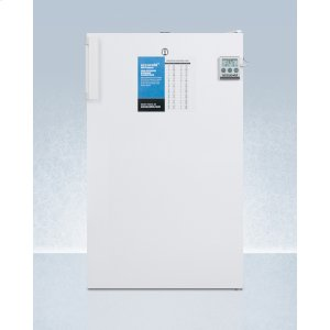 """SummitCommercially Listed ADA Compliant 20"""" Wide All-freezer for Freestanding Use, Manual Defrost With A Lock and Nist Calibrated Thermometer"""