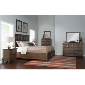 LEGACY CLASSIC FURNITUREForest Hills Panel Bed w/Storage Footboard, King 6/6