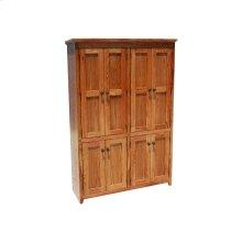 """Shaker Alder 48"""" 8-Door Bookcase"""