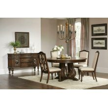Ilana Traditional Antique Java Round Formal Dining Table