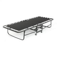 "Deluxe Rollaway Folding Poly Deck Cot 1220P with Angle Steel Frame and 30"" Foam Mattress, 29"" x 75"""