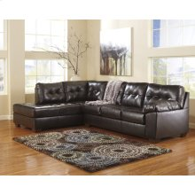 Signature Design by Ashley Alliston with Left Side Facing Chaise Sectional in Chocolate DuraBlend